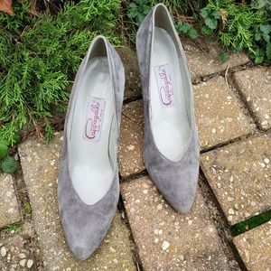 Pappagallo gray pumps heels size 8N